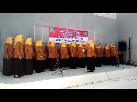 Paduan Suara Juara I Desa Muara Kecamatan blanakan Subang,lagu Subang Motekar Lagu kedua Blanakan