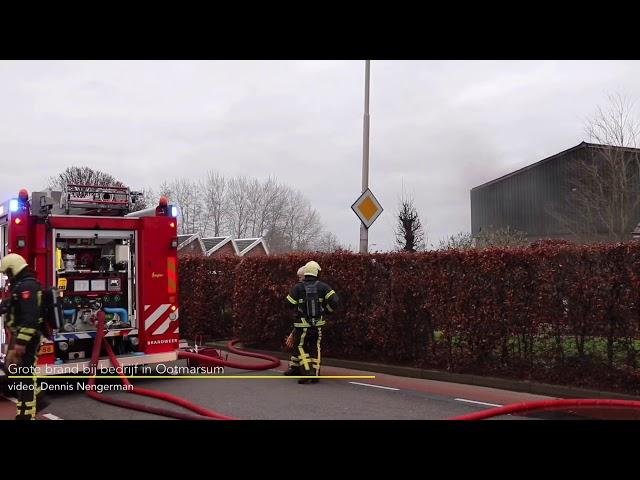 Grote brand in bedrijf Ootmarsum