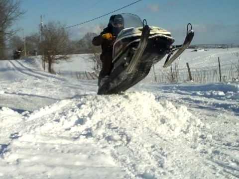 Polaris Snowmobile Jump