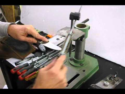 How To Sharpen A Knife By Hand Youtube