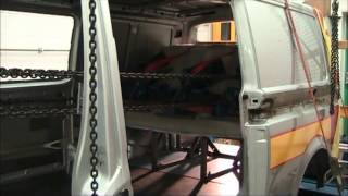 Vanworx Rib Scopema In Vehicle Pull Test / Crash Test Vw T5 Transporter Rock And Roll Bed