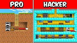 PRO vs HACKER Buฑker Underground Build Battle CHALLENGE!