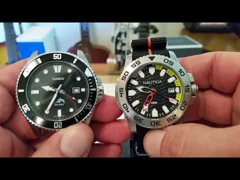 Budget Diver Showdown !FAIL!-Casio MDV 106a vs. Nautica NAD 12526G