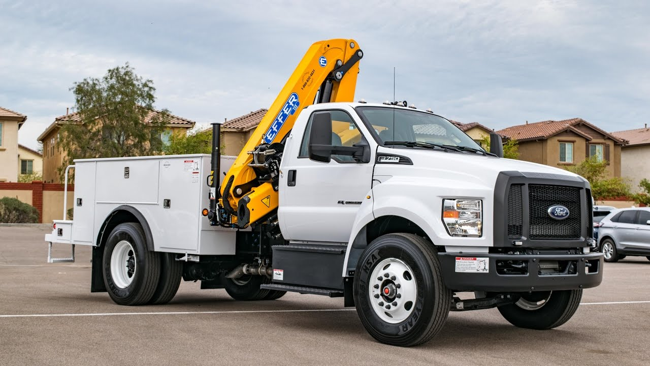 Ford F650 For Sale >> 2017 Ford F-750 UCE Crane Truck Walkaround - YouTube