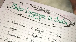 Languages in India//Most spoken languages in India//Handwriting