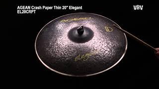 "20"" Crash Paper Thin Elegant video"