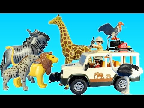 Playmobil Safari Truck with Lions Playset For Kids - Animal Toys Video