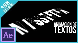 Animar Textos en After Effects || Tutorial