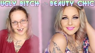 FROM UGLY TO BEAUTY TRANSFORMATION ( The Power of Make-up ) | Jennys strange World