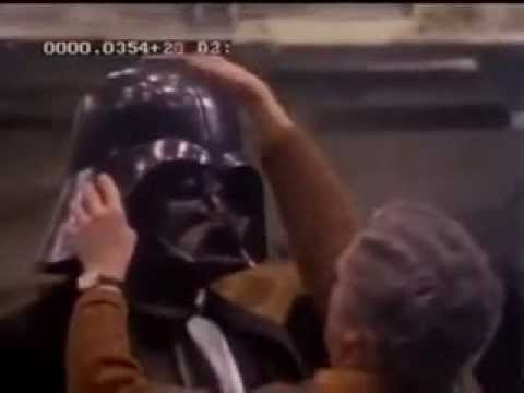 Star Wars David Prowse Suiting Up As Darth Vader - A New Hope