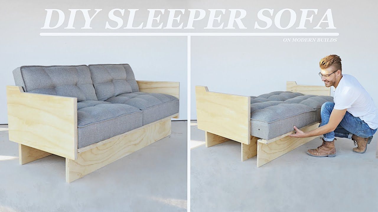 DIY Sleeper Sofa / Futon that Turns Into a Bed! | Modern Builds