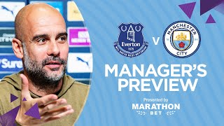 PRESS CONFERENCE | Pep Guardiola | Everton v City