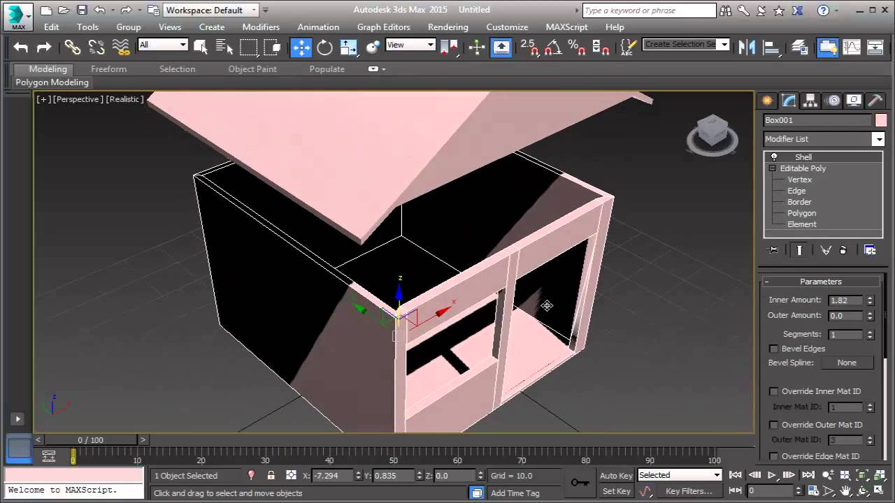 3ds max house modeling exterior basic youtube for Exterior 3ds max model