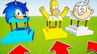 NE SAUTER PAS DANS LE MAUVAIS PUIT !! Loud, Simpson, Sonic MINECRAFT MCPE FR
