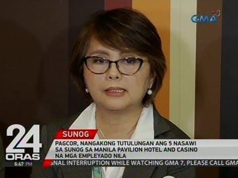 PAGCOR, nangakong tutulungan ang 5 nasawi sa sunog sa Manila Pavilion Hotel and Casino
