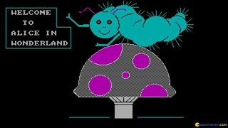 Alice in Wonderland gameplay (PC Game, 1989)