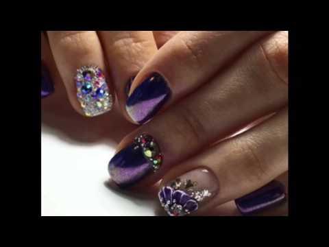 Uñas Decoradas Con Piedras 2017 Nails Youtube