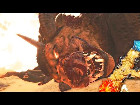 ARK Scorched Earth - SUMMONING & KILLING THE MANTICORE - Scorched Earth Map Gameplay