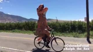 Trex on a bike!