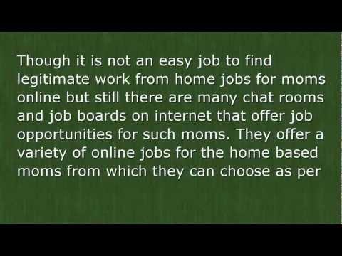 Legitimate Work from Home Jobs for Moms Online