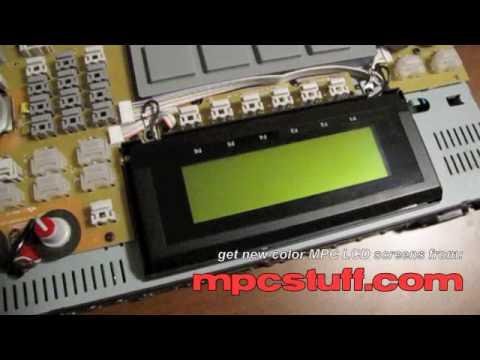 Akai MPC 2500 White / Blue LCD Screen Install from MPCstuff.com