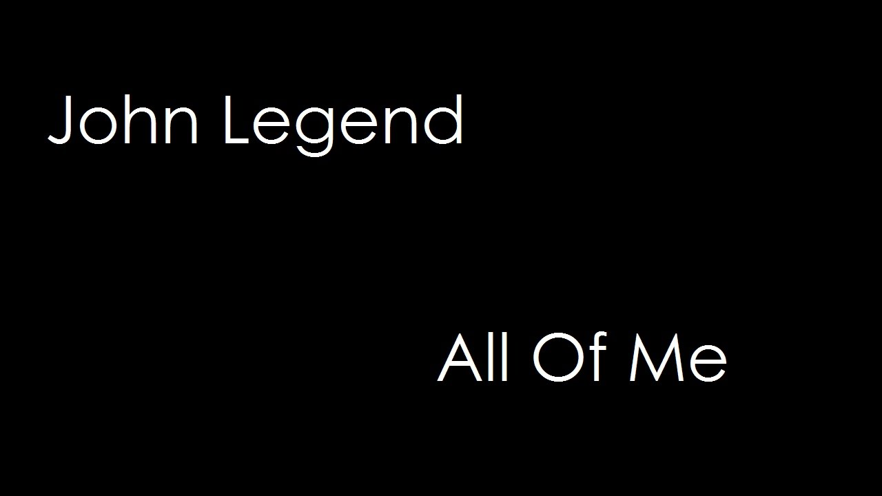 john legend all of me lyrics pdf