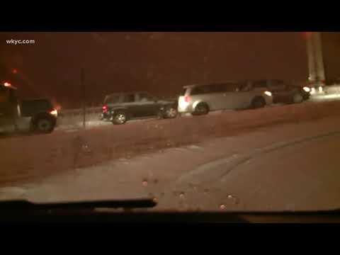 Road report on I-76 near SR 21 in Summit County