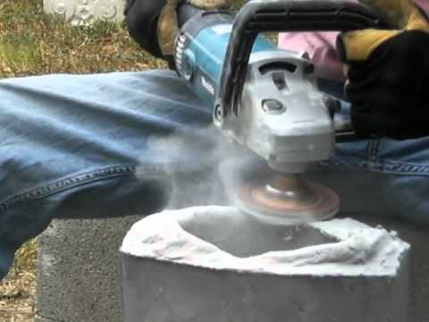 Grinding Concrete With A Diamond Cup Wheel Youtube