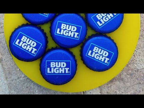 Man cave resin coaster/beer cap coaster