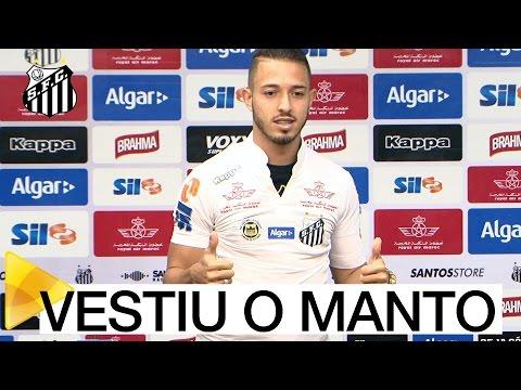 Jean Mota é apresentado oficialmente pelo Santos FC
