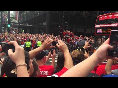 Chicago Blackhawks 2015 championship parade.