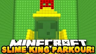 Minecraft SLIME KING PARKOUR! (Fast, Fun & Easy Custom Map!) w/PrestonPlayz