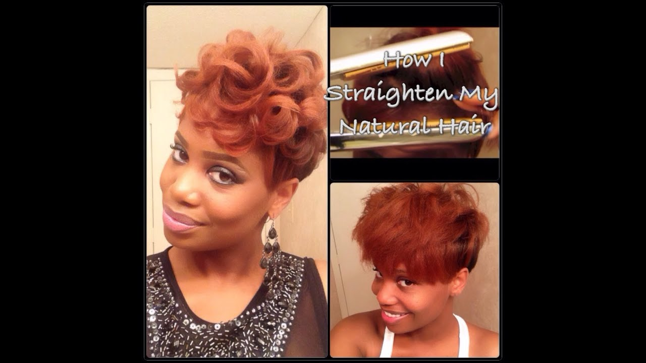 Process How I Straighten My Tapered Natural Hair Youtube