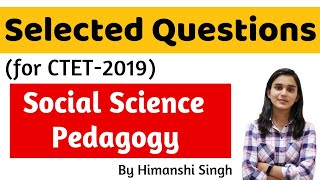 Social Science Pedagogy Important Questions for CTET-2019 | Live @ 9:00 PM