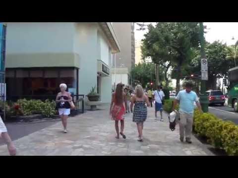 Hawaii Day 2 - Part 1 ~ ワイキキ散歩 Walking in Waikiki ~