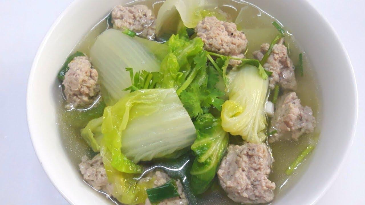 ต้มจืดผักกาดขาวใส่หมูสับ,เคล็ดลับความอร่อย,สูตรน้ำชุปใส,วิธีทำง่ายๆ  by saijai