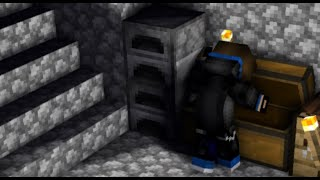 Day 8, Making a storage room, Again Survived, Minecraft Gameplay 8.