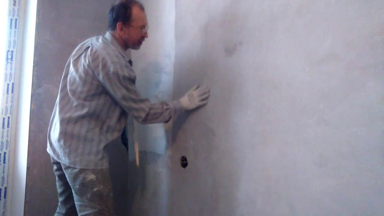 Как зашпаклевать стены под обои своими руками фото 437