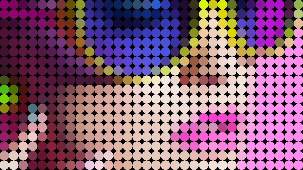 Turn a photo to a color dot pattern in photoshop