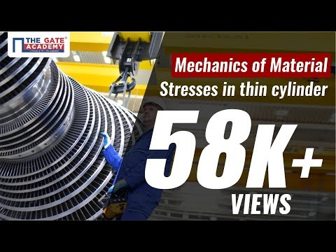 Stresses in thin Cylinder | Mechanics of Material | Preparation Lectures |  CE, ME