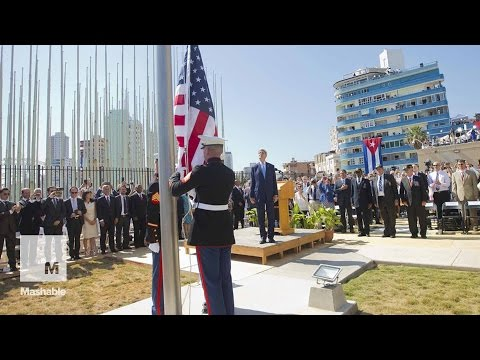 Marines who lowered flag at Embassy in Cuba 54 years ago return for its raising | Mashable