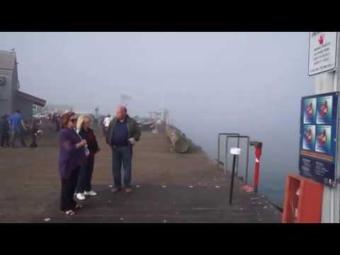 Santa Barbara Stearn's Wharf Dolphin Fountain & Walking on the Pier
