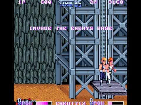 Double Dragon II - The Revenge arcade 2 player Netplay- no slowdown