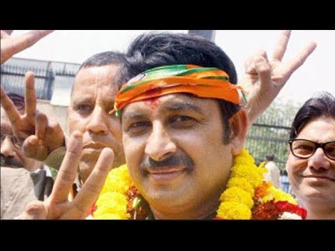 North-East Delhi's candidate Manoj Tiwari's roadshow from Yamuna Vihar to Nand Nagri in Delhi