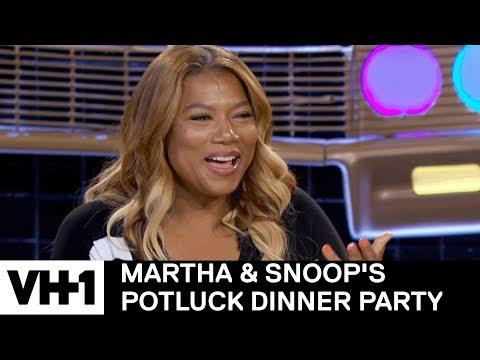 Queen Latifah's Craziest Rumor She's Heard About Herself  Martha & Snoop's Potluck Dinner Party