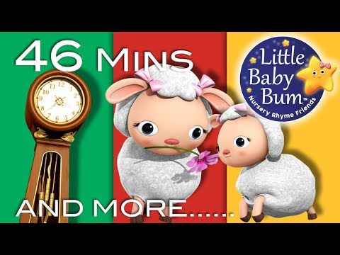 Thumbnail: Hickory Dickory Dock | Part 2 | Plus More Nursery Rhymes | 46 Mins Compilation from LittleBabyBum!