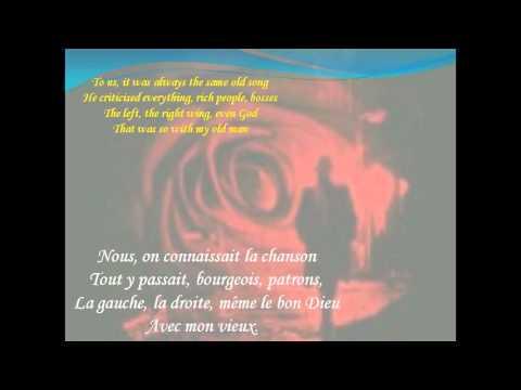 """Daniel GUICHARD """"Mon Vieux"""" (lyrics & sous-titres)"""