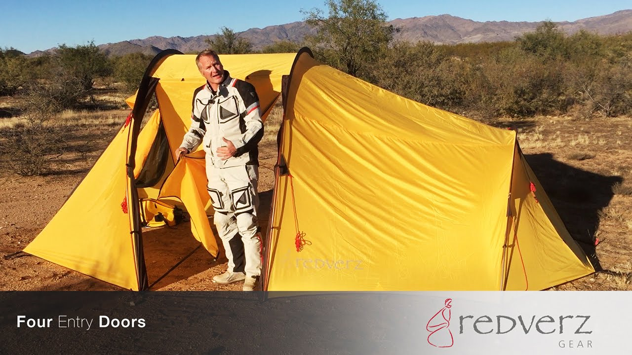 Walk Through Atacama Motorcycle Expedition Tent from Redverz.com - YouTube & Walk Through Atacama Motorcycle Expedition Tent from Redverz.com ...