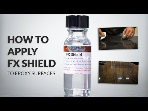 How to apply FX Shield to epoxy surfaces