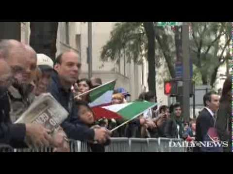 Columbus Day parade attracts proud Italian Americans and politicians